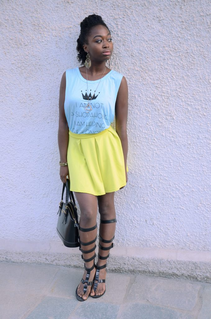 how_to_wear-skater_skirt-comment_porter-jupe_patineuse-couleurs_neon_colors-stephanie_guillaume-turning_point_blog