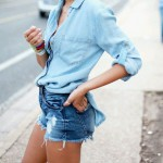 how to wear denim shirt, Turning Point Blog, Stephanie Guillaume