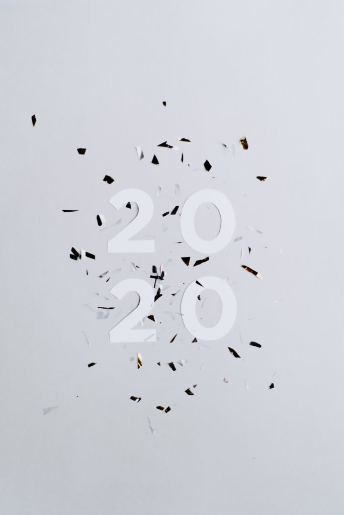 year 2020 confetti, mid-year review